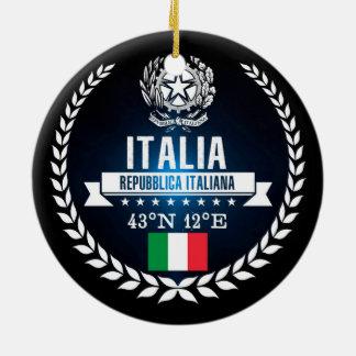 Ornement Rond En Céramique L'Italie