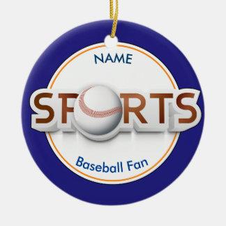 Ornement Rond En Céramique Logo sportif circulaire avec le BASE-BALL