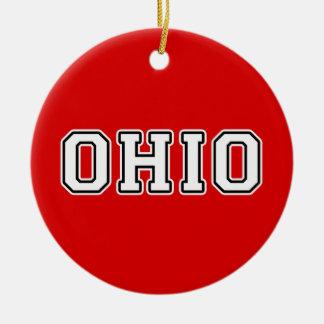 Ornement Rond En Céramique L'Ohio