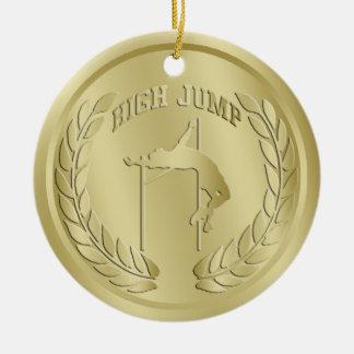 Ornement Rond En Céramique L'or en hauteur a modifié la tonalité l'ornement