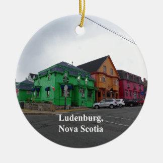 Ornement Rond En Céramique Ludenburg la Nouvelle-Écosse