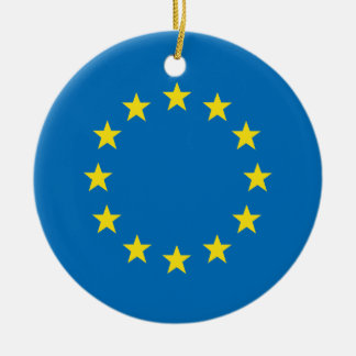 Ornement Rond En Céramique L'UE marquent la décoration d'arbre de Noël