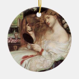 Ornement Rond En Céramique Madame Lilith par Rossetti, Portait victorien