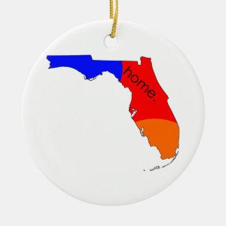 Ornement Rond En Céramique Maison de la Floride