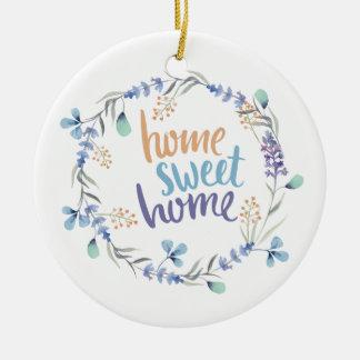 Ornement Rond En Céramique Maison florale de bonbon à maison de guirlande