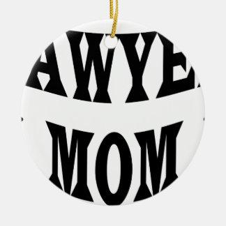 Ornement Rond En Céramique maman d'avocat
