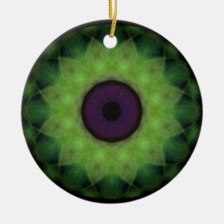 Ornement Rond En Céramique Mandala de chaux d'oeil mauvais d'horreur