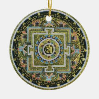 Ornement Rond En Céramique Mandala Tantric tibétain vintage Thangka de