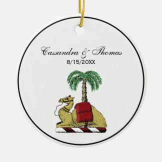 Ornement Rond En Céramique Manteau de couleur de palmier de chameau des bras