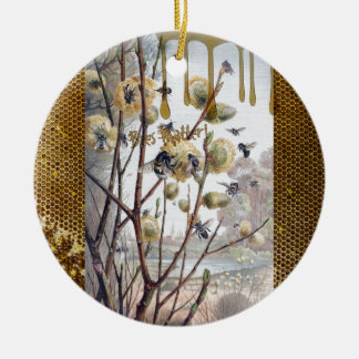 Ornement Rond En Céramique Matière d'abeilles