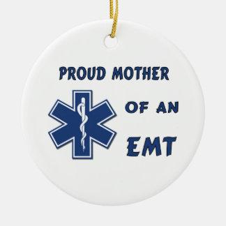 Ornement Rond En Céramique Mère fière d'un EMT