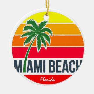 Ornement Rond En Céramique Miami Beach