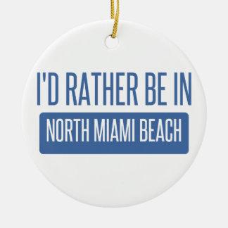 Ornement Rond En Céramique Miami Beach du nord