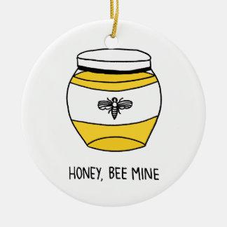 Ornement Rond En Céramique Miel, mine d'abeille