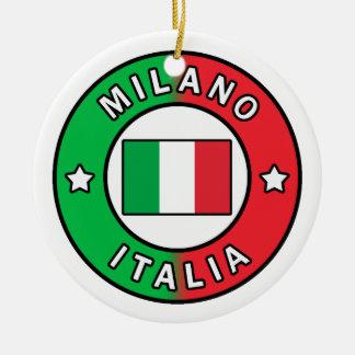 Ornement Rond En Céramique Milan Italie
