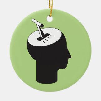 Ornement Rond En Céramique mode de cerveau - levier de pensée de décalage