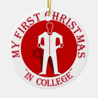 Ornement Rond En Céramique Mon premier Noël dans l'université