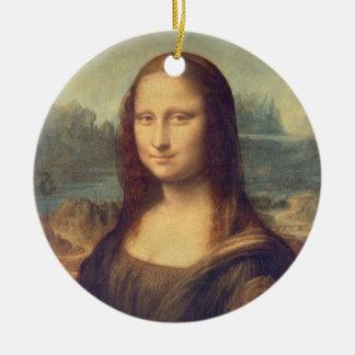Ornement Rond En Céramique Mona Lisa par Leonardo da Vinci