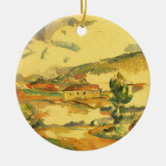 Ornement Rond En Céramique Mont Sainte Victoire par Paul Cezanne, art vintage