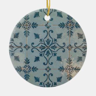 Ornement Rond En Céramique Mosaïques de cru du Portugal