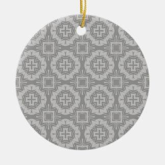 Ornement Rond En Céramique motif 8773Grey
