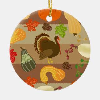 Ornement Rond En Céramique Motif de récolte d'automne de courge de la Turquie