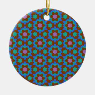 Ornement Rond En Céramique motif géométrique islamique