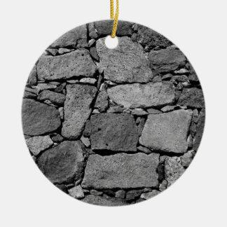 Ornement Rond En Céramique Mur de basalte