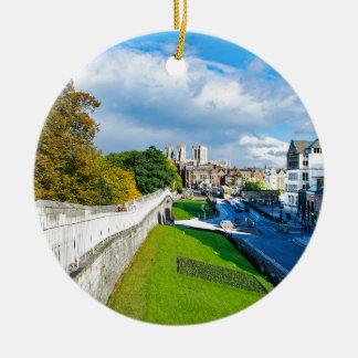Ornement Rond En Céramique Murs et Minster de York