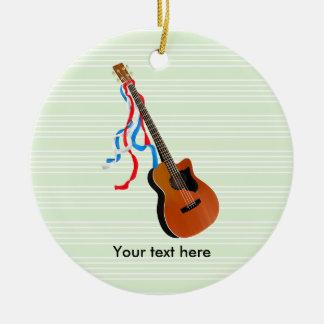 Ornement Rond En Céramique Musique acoustique d'Américain de guitare basse