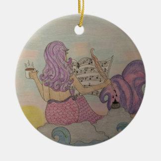 Ornement Rond En Céramique Musique de sirène