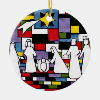 Ornement Rond En Céramique Nativité de Mondrian - de Stijl - Neoplasticism