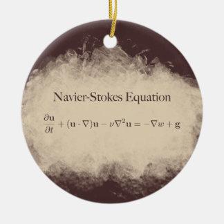Ornement Rond En Céramique Navier charge l'ornement de maths et de la Science