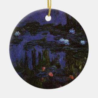 Ornement Rond En Céramique Nénuphars par Claude Monet, impressionisme vintage