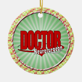 Ornement Rond En Céramique Neurochirurgien de DOCTEUR BIG RED de LOGO