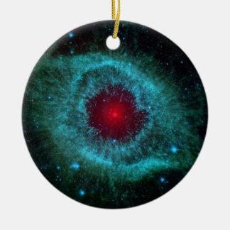 Ornement Rond En Céramique NGC 7293 la NASA de nébuleuse d'hélice