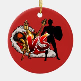 Ornement Rond En Céramique Noël QUOTIDIEN Ornoument de ROI VS AAW