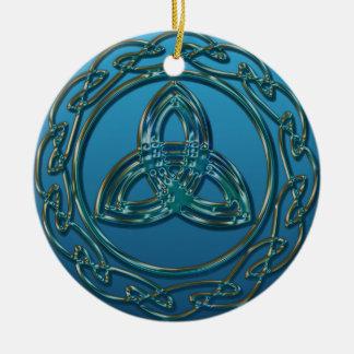 Ornement Rond En Céramique Noeud celtique de trinité de sembler antique en
