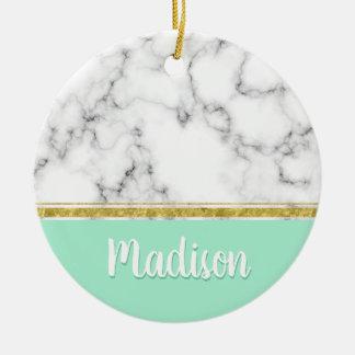 Ornement Rond En Céramique Nom en bon état élégant de coutume de marbre et