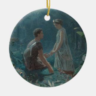 Ornement Rond En Céramique Nuit d'été Hermia et Lysander