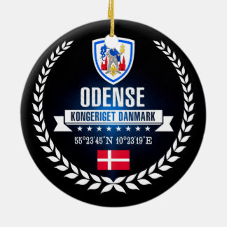 Ornement Rond En Céramique Odense
