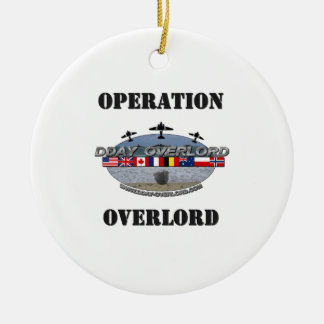 Ornement Rond En Céramique Operation Overlord 1944