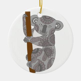 Ornement Rond En Céramique Ours de koala