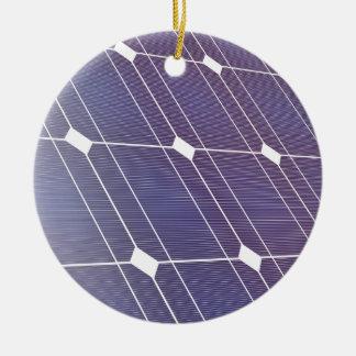 Ornement Rond En Céramique Panneau solaire