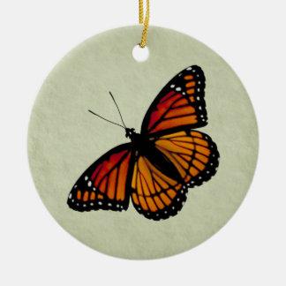 Ornement Rond En Céramique Papillon de vice-roi