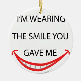 Ornement Rond En Céramique par la manière je porte le sourire que vous avez
