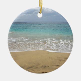 Ornement Rond En Céramique paradis tropical