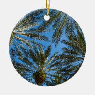 Ornement Rond En Céramique Parapluie de palmiers
