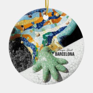 Ornement Rond En Céramique Parc Guell de Barcelone Gaudi