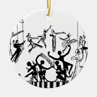 Ornement Rond En Céramique Partie animée avec la danse